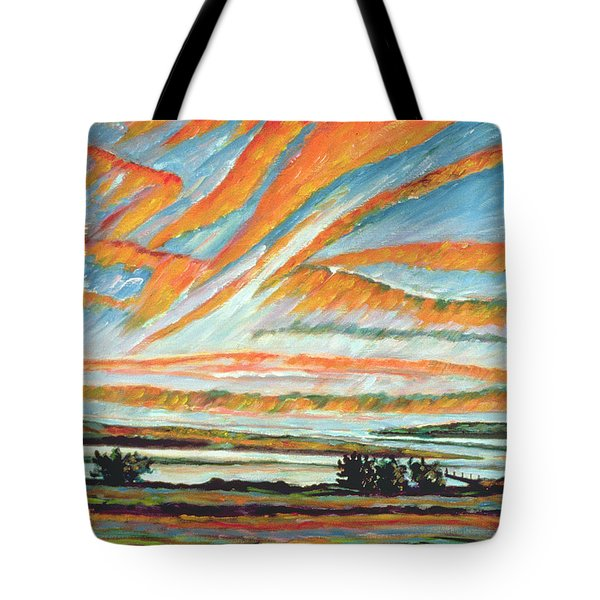 Sunrise Les Eboulements Quebec Tote Bag by Patricia Eyre