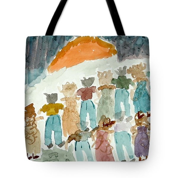 Tote Bag featuring the painting Sunrise by Lesley Fletcher