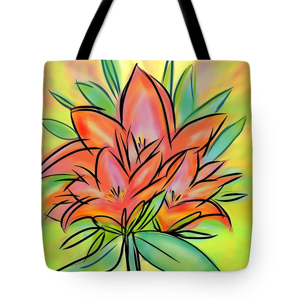 Sunrise Lily Tote Bag