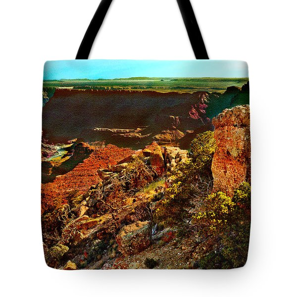 Sunrise Lipan Point Grand Canyon Tote Bag by Bob and Nadine Johnston
