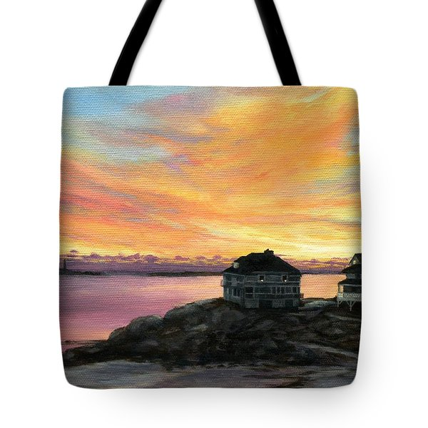 Sunrise Long Beach Rockport Ma Tote Bag