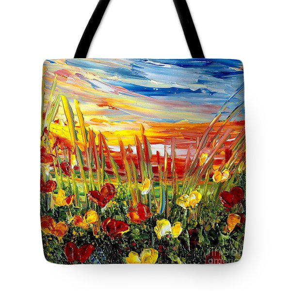 Sunrise Meadow   Tote Bag by Teresa Wegrzyn