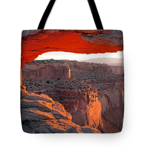 Sunrise Mesa Arch Canyonlands National Park Tote Bag