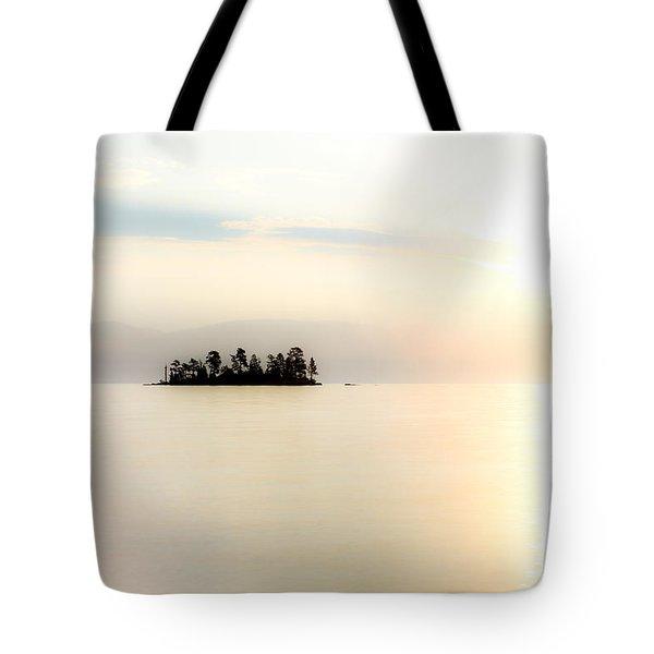 Sunrise Mist Tote Bag by Aaron Aldrich