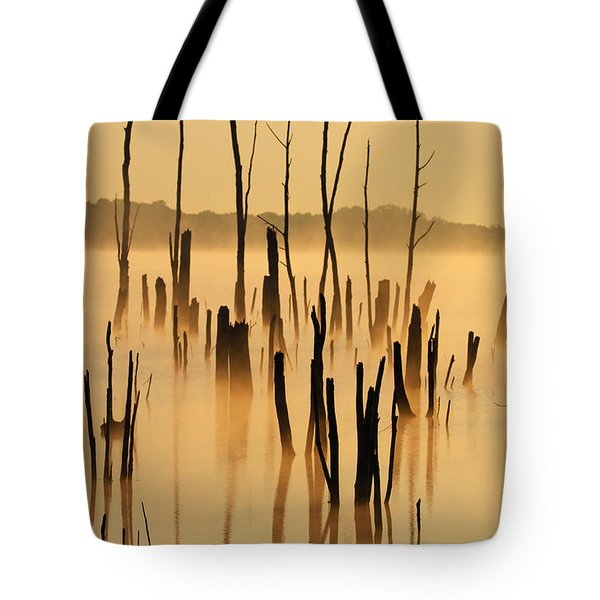 Sunrise Mist Tote Bag