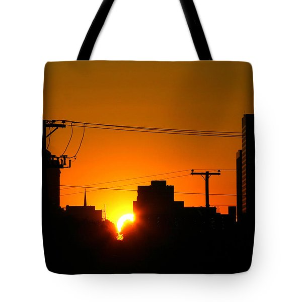 Tote Bag featuring the photograph Sunrise -- My Columbia Seen by Joseph C Hinson Photography