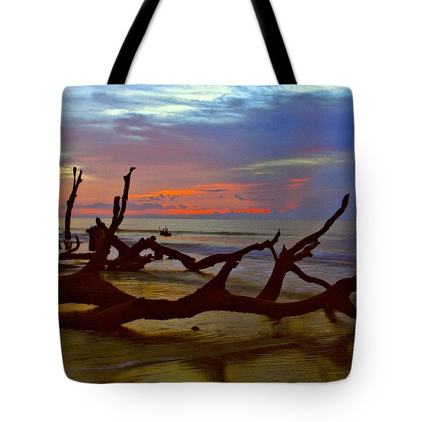 Sunrise On Bulls Island Tote Bag