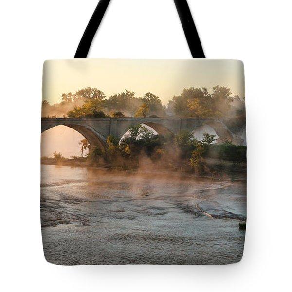 Sunrise On Interurban Bridge 0369 Tote Bag