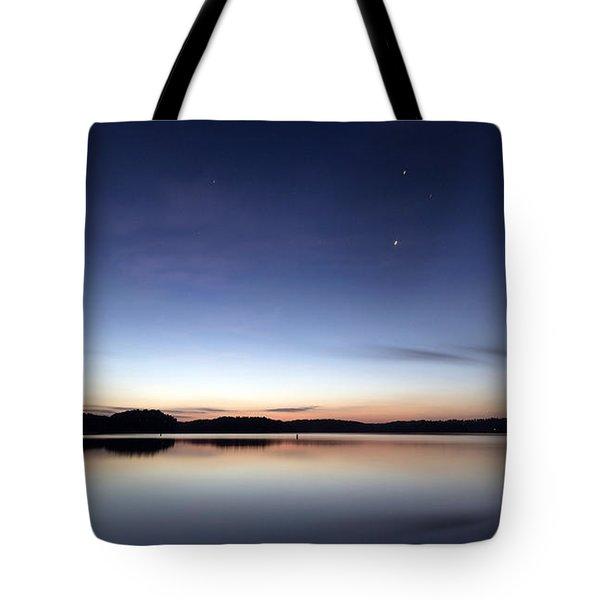Tote Bag featuring the photograph Sunrise On Lake Lanier by Bernd Laeschke