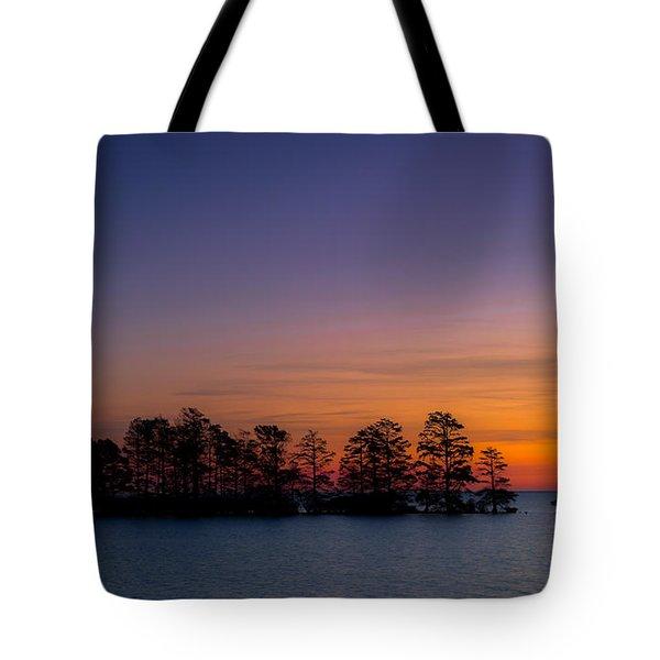 Sunrise On Lake Mattamuskeet Tote Bag