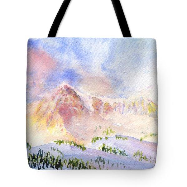 Sunrise On Mount Ogden Tote Bag