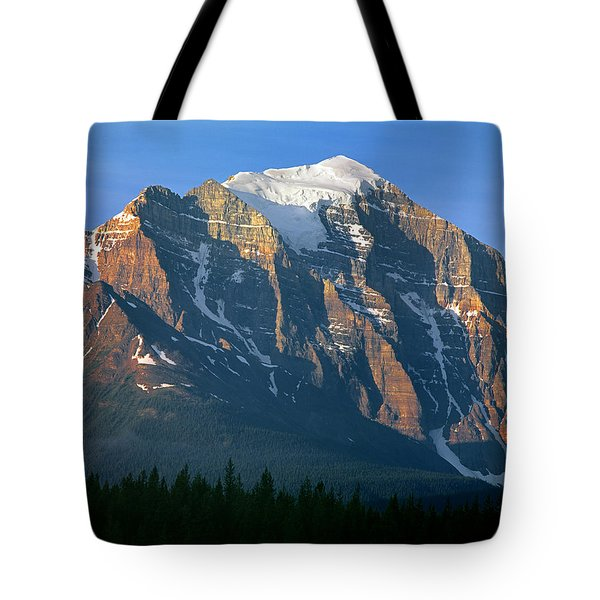 1m3518-sunrise On Mt. Temple Tote Bag