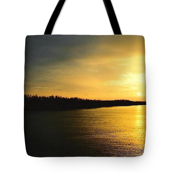 Tote Bag featuring the photograph Sunrise On Ole Man River by Michael Hoard