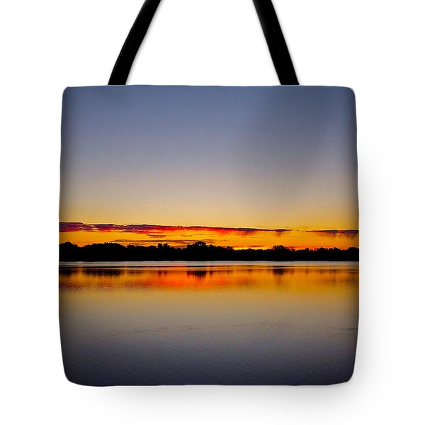 Sunrise On Riviere Des Mille-iles Tote Bag by Juergen Weiss