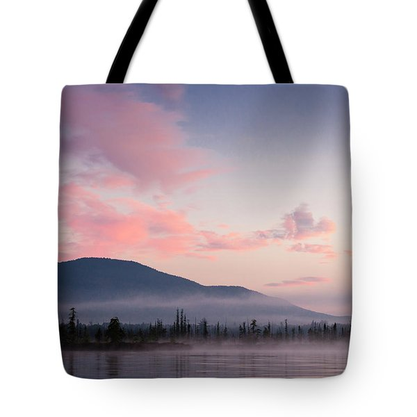 Sunrise On Spencer Pond, Northern Maine Tote Bag