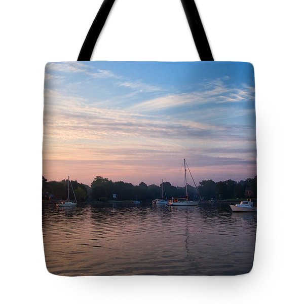Sunrise On St. Michaels Md Harbor Tote Bag