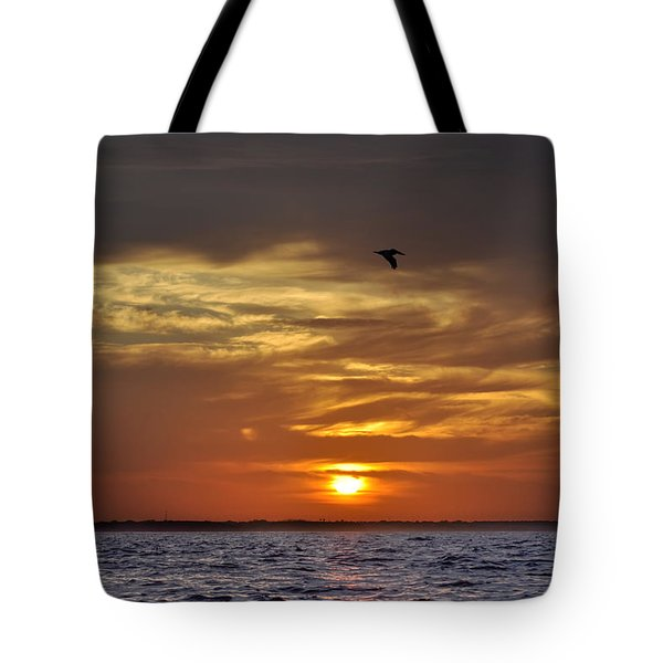 Sunrise On Tampa Bay Tote Bag by Bill Cannon
