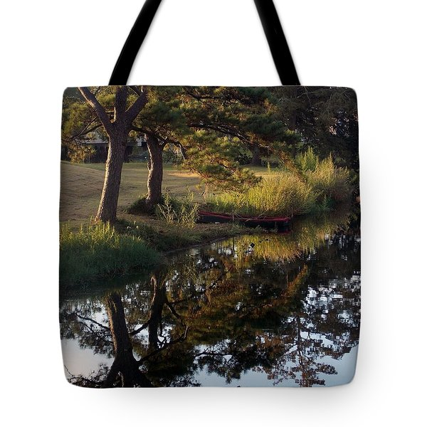 Sunrise On The Bayou Tote Bag by John Glass