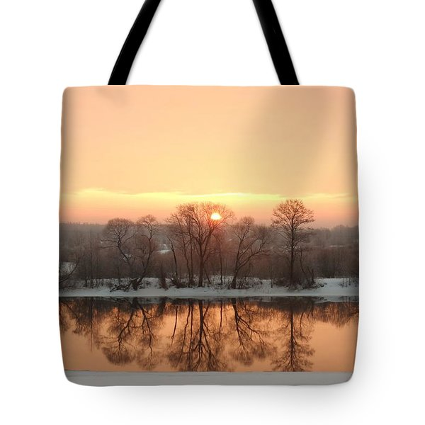 Sunrise On The Ema River Tote Bag