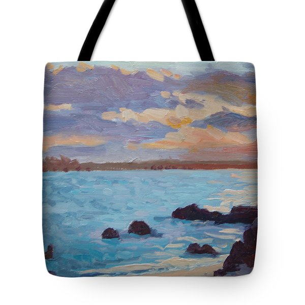 Sunrise On The Grotto Tote Bag by Dianne Panarelli Miller