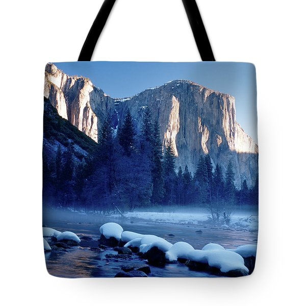 Sunrise On El Capitan Yosemite National Park Tote Bag
