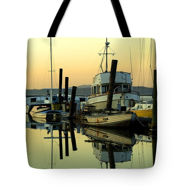 Sunrise On The Petaluma River Tote Bag by Bill Gallagher