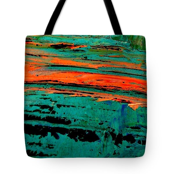 Tote Bag featuring the painting Sunrise On The Water by Jacqueline McReynolds