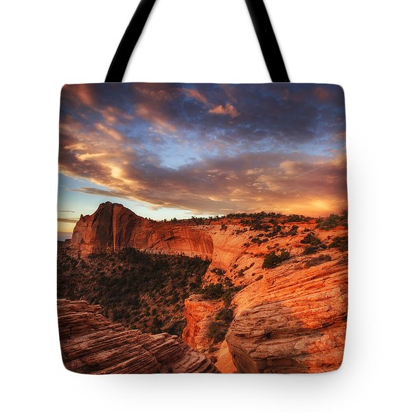 Sunrise Over Canyonlands Tote Bag by Darren  White