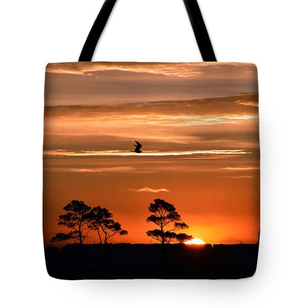 Sunrise Over Fenwick Island Tote Bag
