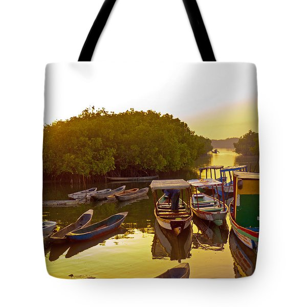 Sunrise Over Gambian Creek Tote Bag