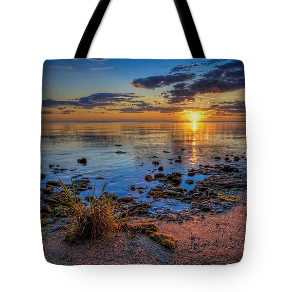 Sunrise Over Lake Michigan Tote Bag
