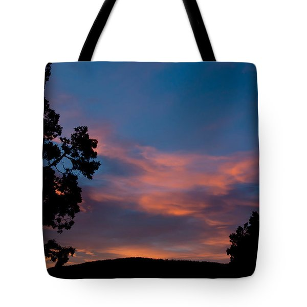 Sunrise Over Mammoth Campground Tote Bag