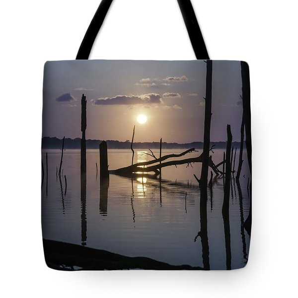 Sunrise Over Manasquan Reservoir Tote Bag