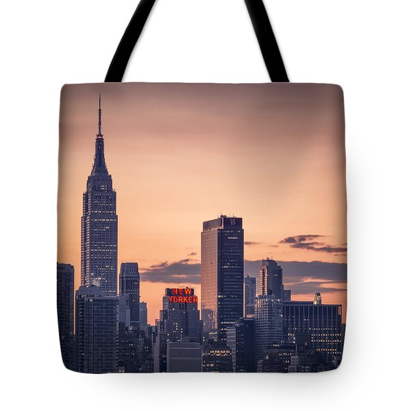 Manhattan Sunrise Tote Bag by Eduard Moldoveanu