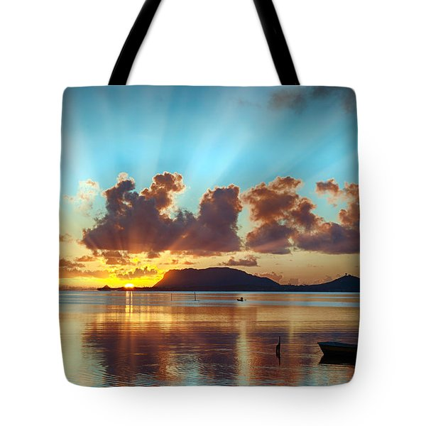 Sunrise Over Marine Corps Base Hawaii Tote Bag