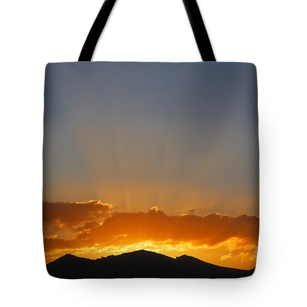 Sunrise Over Mountains Tote Bag by Robert Preston