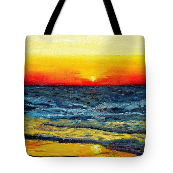 Tote Bag featuring the painting Sunrise Over Paradise by Shana Rowe Jackson