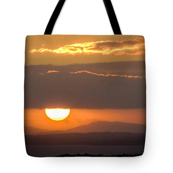 Sunrise Over River Shannon Tote Bag