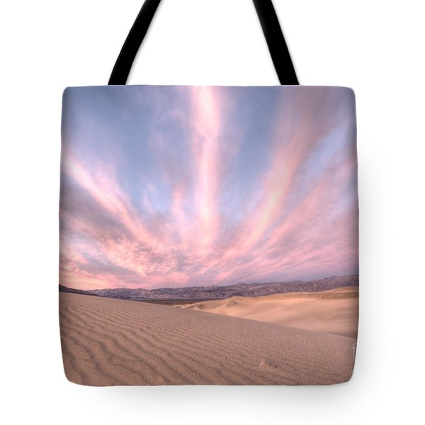 Sunrise Over Sand Dunes Tote Bag