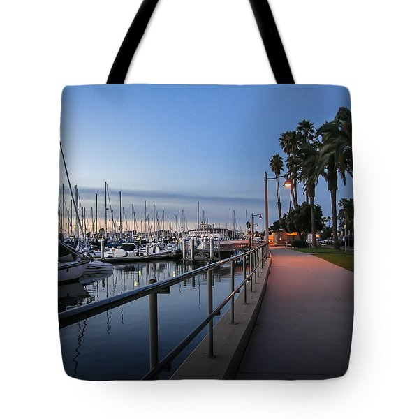 Sunrise Over Santa Barbara Marina Tote Bag