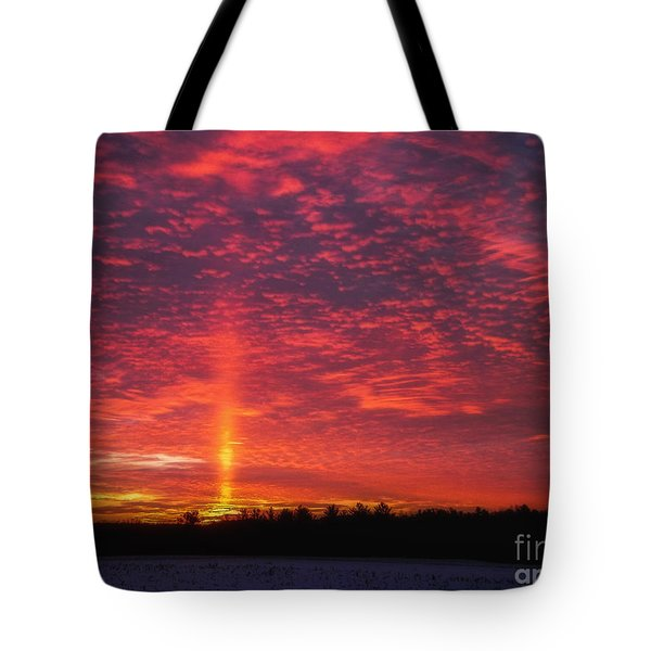 Tote Bag featuring the photograph Sunrise Over Scandinavia by Trey Foerster