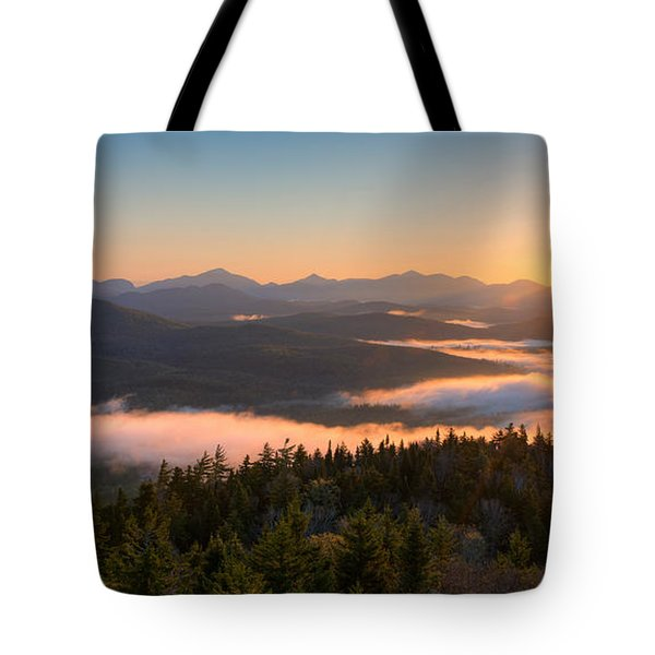 Sunrise Over The Adirondack High Peaks Tote Bag
