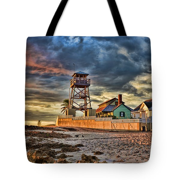 Sunrise Over The House Of Refuge On Hutchinson Island Tote Bag