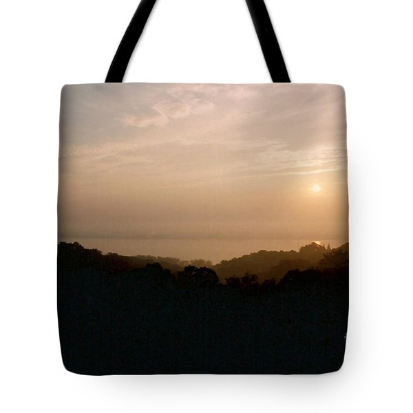 Sunrise Over The Illinois River Valley Tote Bag