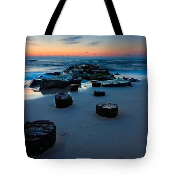 Sunrise Over The Jetty Tote Bag