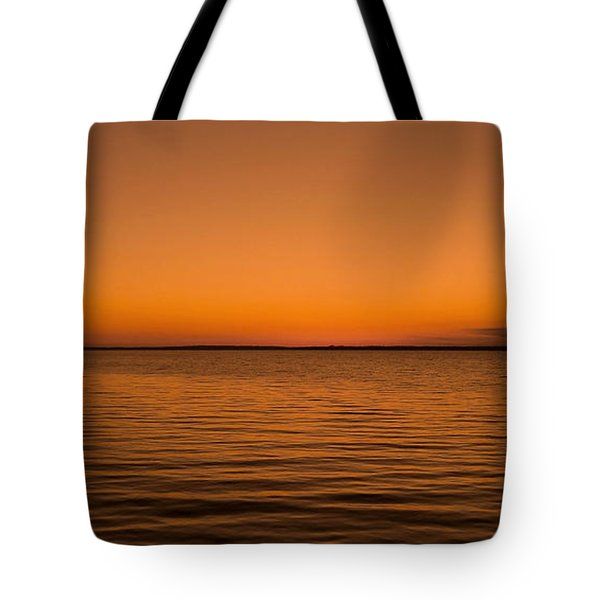 Sunrise Over The Lake Of Two Mountains - Qc Tote Bag by Juergen Weiss