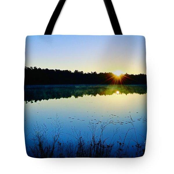 Sunrise Over The Lake Tote Bag