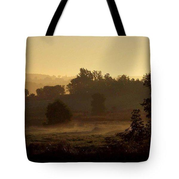 Sunrise Over The Mist Tote Bag
