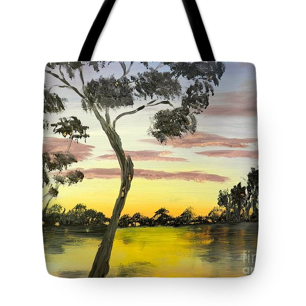 Sunrise Over The Murray River At Lowson South Australia Tote Bag