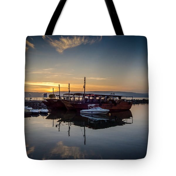Sunrise Over The Sea Of Galilee Tote Bag